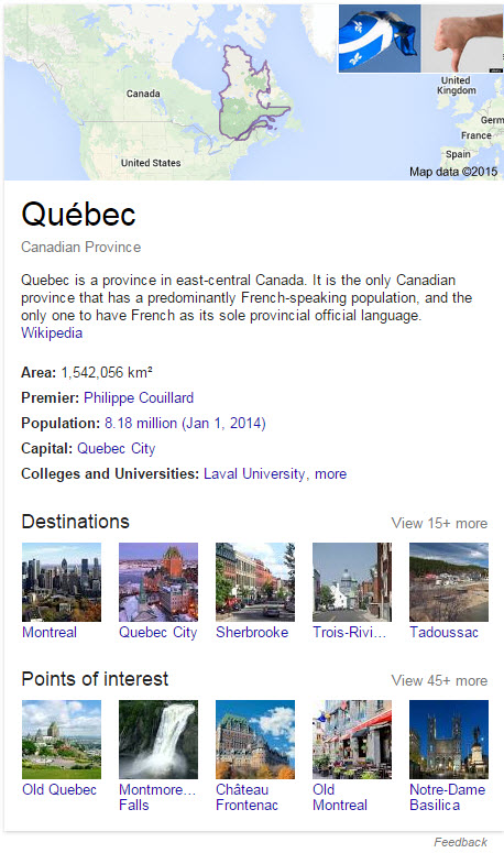 Google Québec Google description