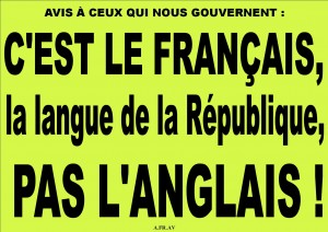 Français - Langue de la Republique