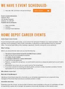 Home Depot Hiring Event