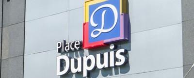 Place Dupuis sur la rue Ste-Catherine Est, coin St-Hubert